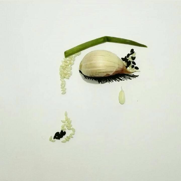 12. Garlic Snail - Amazing Illustrations & Drawing (12)